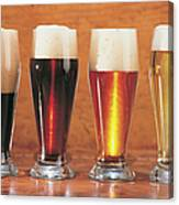 Assorted Beers And Ales Canvas Print