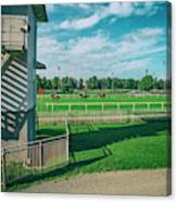 At The Racetracks #2 Canvas Print