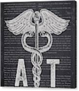 Athletic Trainer Gift Idea With Caduceus Illustration 02 Canvas Print