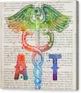 Athletic Trainer Gift Idea With Caduceus Illustration 03 Canvas Print