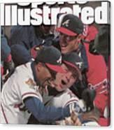 Atlanta Braves, 1995 World Series Sports Illustrated Cover Canvas Print