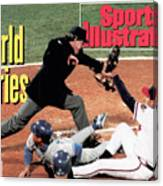 Atlanta Braves John Smoltz, 1992 World Series Sports Illustrated Cover Canvas Print