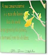 Audubon Warbler Quote Canvas Print