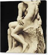 Auguste Rodin The Kiss, 1886 Marble Sculpture Canvas Print