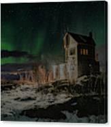 Aurora Borealis Over Harstad Canvas Print