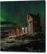 Aurora Over The Radio Station Canvas Print
