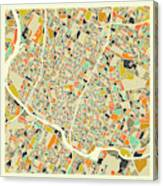 Austin Map 1 Canvas Print