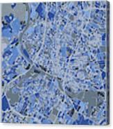 Austin Map Retro 5 Canvas Print