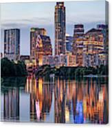 Austin Texas Images - Austin Skyline Panorama At Twilight Canvas Print