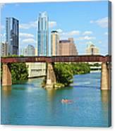 Austin Texas Skyline, Colorado River Canvas Print