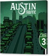 Austin Traffic Canvas Print