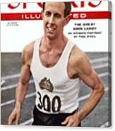 Australia John Landy, 1954 British Empire And Commonwealth Sports Illustrated Cover Canvas Print