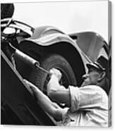 Auto Mechanic Vintage Canvas Print