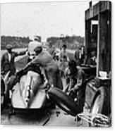 Auto Union In The Pits During A Grand Canvas Print