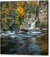 Autumn At Linville Falls - Linville Gorge Blue Ridge Parkway Canvas Print