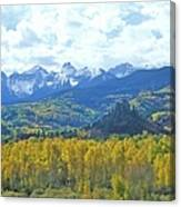 Autumn Colors In The Sneffels Mountain Canvas Print