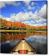 Autumn In A Canoe Canvas Print