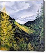 Autumn in Glacier Park Canvas Print