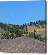 Autumn Moon Setting Panoramic View Canvas Print