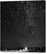 Autumn Night - Sauble Beach - Two Galaxies Bw Canvas Print