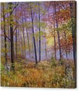 Autumn Wolves Canvas Print