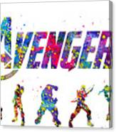 Avengers Team Canvas Print