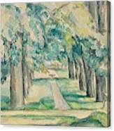 Avenue Of Chestnut Trees At The Jas De Bouffan  Canvas Print