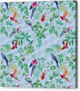 Aviary Small Scroll Periwinkle Canvas Print