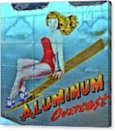 B - 17 Aluminum Overcast Pin-up Canvas Print