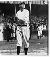 Babe Ruth Batting For Ny Yankees Canvas Print