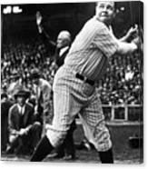Babe Ruth Eye On Ball Canvas Print