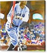 Babe Ruth Hits One Out Canvas Print