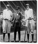 Babe Ruth Ruppert Meusel Canvas Print