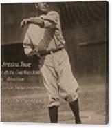 Babe Ruth Special Tour Postcard Canvas Print