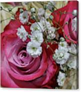Baby's Breath And Roses Canvas Print