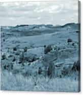 Badlands Cloud Shadows Canvas Print