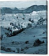 Badlands Shadows And Sunlight Canvas Print