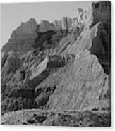 Badlands South Dakota Black And White Canvas Print