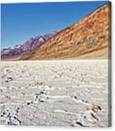 Badwater Basin Salt Flats, Death Valley Canvas Print