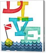 Bahamas Dive - Colorful Scuba Canvas Print