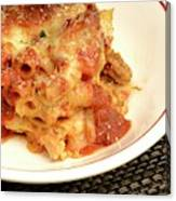 Baked Ziti Serving 2 Canvas Print