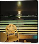 Balcony On The Pacific Oceanside California  Canvas Print