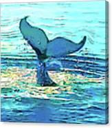 Balene-whales Canvas Print