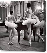 Ballerinas At The Paris Opera Doing Canvas Print