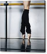 Ballet Holdiing Bar In Classic Pointe Canvas Print