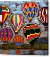 Balloon Family Canvas Print