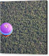 Balloon Over Forest Canvas Print