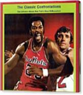 Baltimore Bullets Gus Johnson And New York Knicks Dave Sports Illustrated Cover Canvas Print