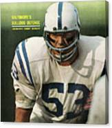 Baltimore Colts Dennis Gaubatz Sports Illustrated Cover Canvas Print