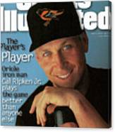 Baltimore Orioles Cal Ripken Jr, 1995 Mlb Baseball Preview Sports Illustrated Cover Canvas Print